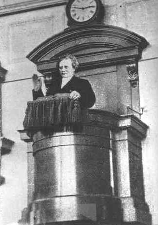 Carl Olof Rosenius preaching in Betlehemskyrkan in Stockholm